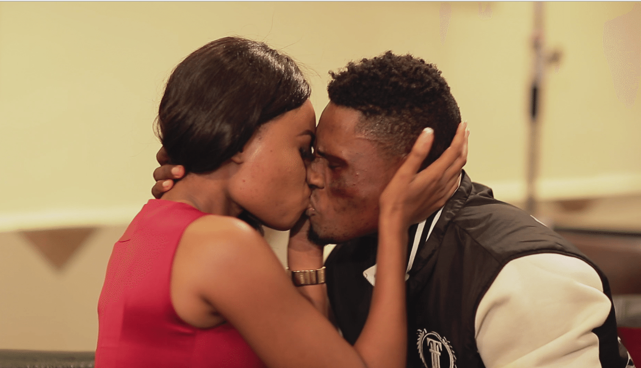 bj and amaka kiss in episode 5 of on the real