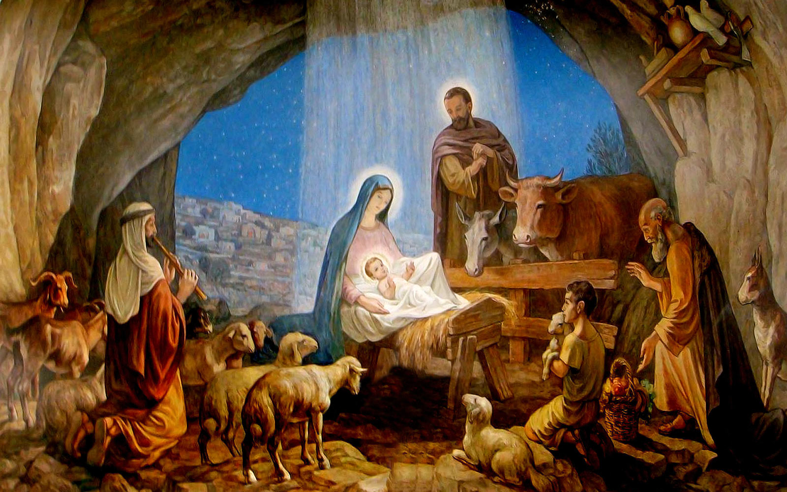 nativity scene jesus birth
