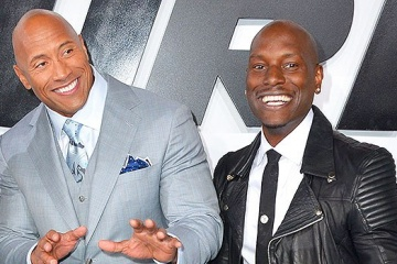 Tyrese Gibson and Dwayne Johnson