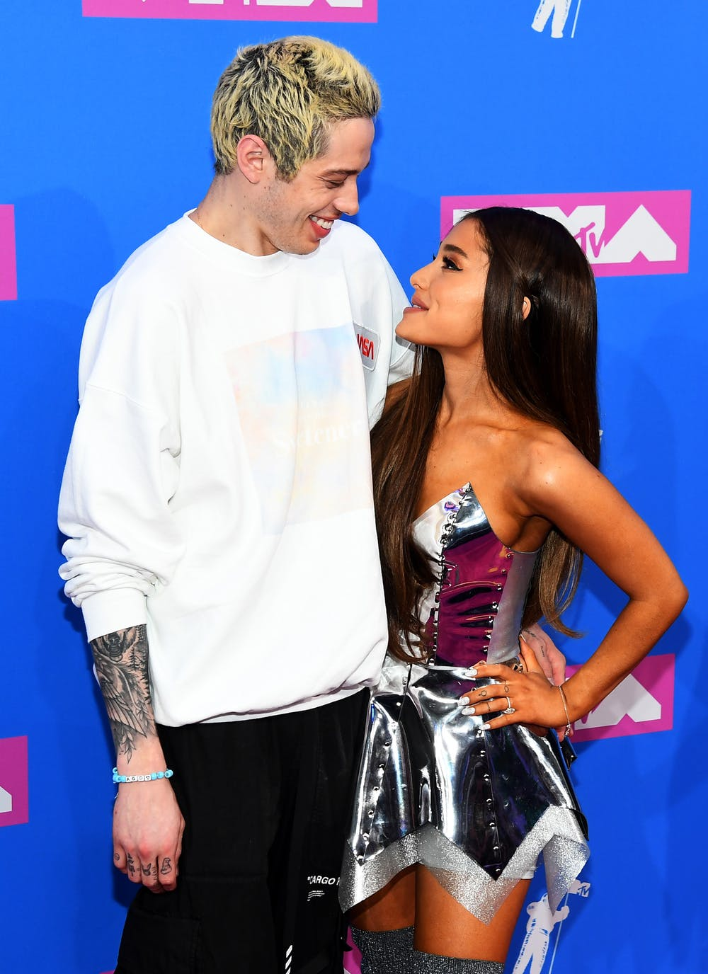 Ariana Grand and Pete Davidson