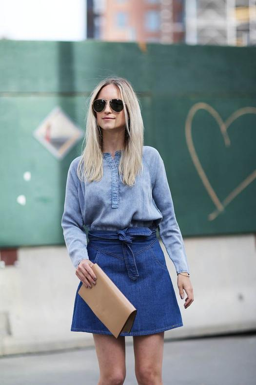 Easy Belted mini denim