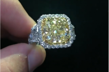travis scott diamond ring
