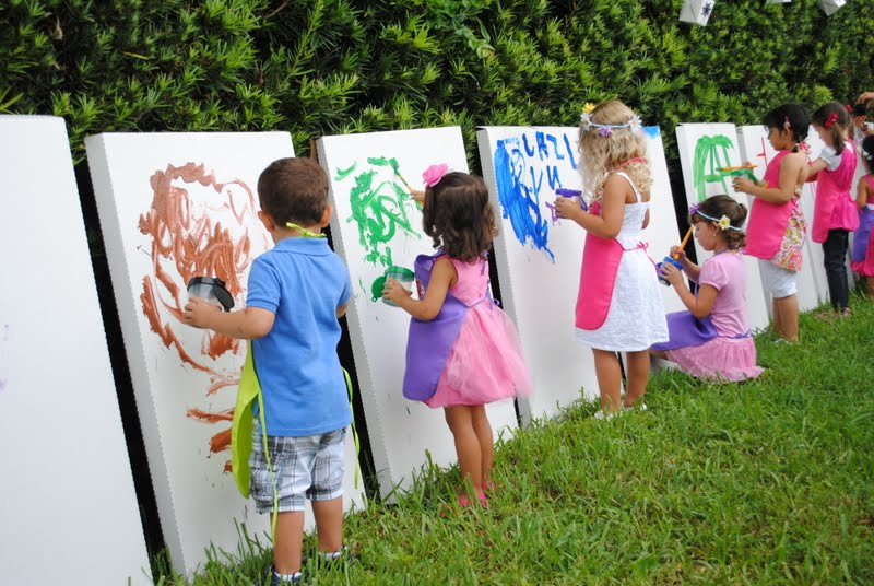 Outdoor Kids Birthday Party Ideas 2 Art Painting