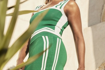 Issa-Rae in green dress for Women's Health