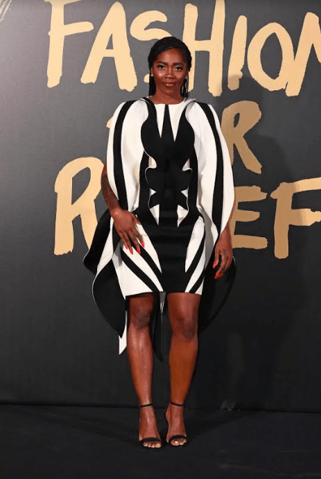 tiwa savage at fashion for relief