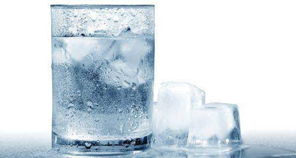ice cold water