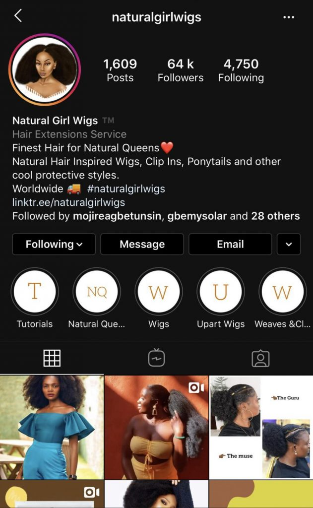A store that sells natural hair extensions