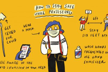 stay safe during a protest
